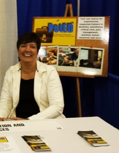 Vickie Byard at PetED Booth